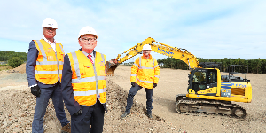 Work started on £1.4million infrastructure improvements to Ashwood Business Park